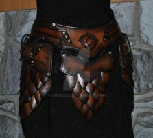 leather armor belt assy  (scales) by Lagueuse