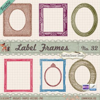 Free Photo Frames Brushes by starsunflowerstudio