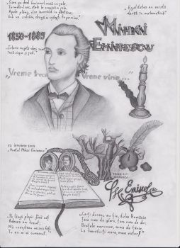 Mihai Eminescu - National poet of Romania-original by BirjovanuAlexandru92