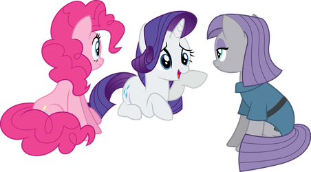 Rarity Talking With Pinkie And Maud by illumnious