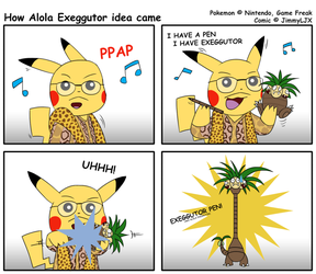 Pokemon Comic - How Alola Exeggutor idea came by JimmyLJX