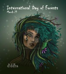 March 21 : International Day of Forests by Diddha