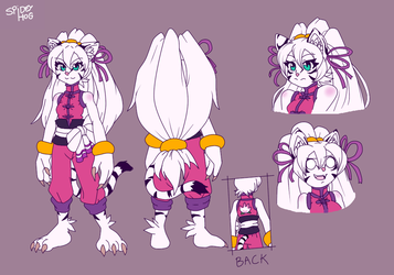 Xiu-Mei the Kung Fu White Tigress reference by SpideyHog