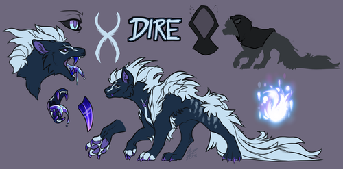 -Ref Sheet: Dire- 2018 by SilverSheCat
