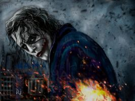 HEATH LEDGER as THE JOKER by Rjrazar1