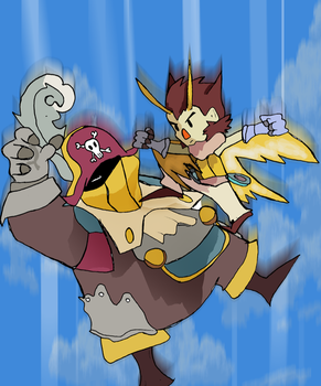 Owlboy Final Battle by AODigimon