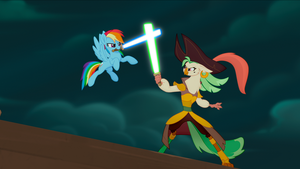 Rainbow Dash Lightsaber Duel by Mega-PoNEO