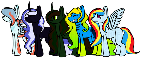 Pony Lineup (Base examples) by EliteUnicorns