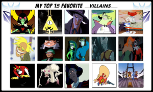 My Top 15 Favorite Villains by TXToonGuy1037