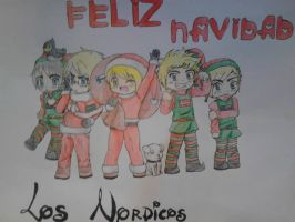 .::APH::.Feliz Navidad-The Nordics by Senpai-Hero