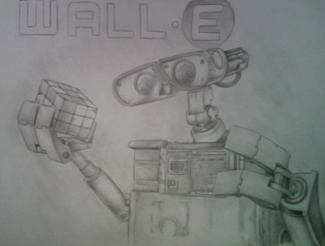 Wall E pencil by M2Art