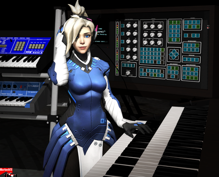 Mercy playing keyboards by MarineACU