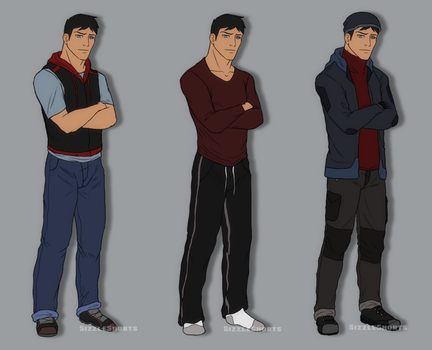 Clothing Practice - Conner Kent by SabraeTrash