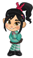 Vanellope recolor by Thetruffulacupcake