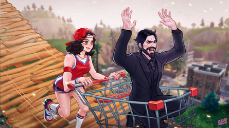 [Fortnite] RollerCoaster Challenge by Hey-SUISUI