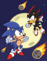 Clash of the Rodents : Sonic v Shadow by SlySonic