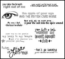 lyrical messages img pack 1 by rancid-roses