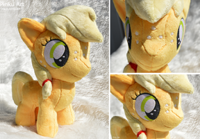 Applejack filly plush by PinkuArt