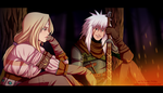 Ciri-Tsunade and Jiraiya of Rivia by Sauto-0chka
