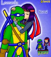 Leo and Karai by RoseMary1315