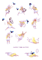 Lillie and Nebby by Cheppoly