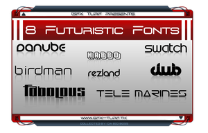 GT Presents: 8 Futuristic Font by DaBigBoss93