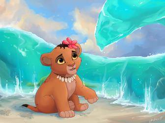 Little Moana in TLK style by NemuShiffer