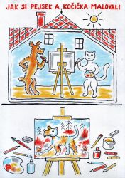 How Doggie and Moggie Painted a Picture by MatejCadil