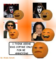 Annoying Orange meets Gene by Minako001