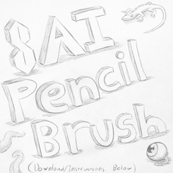 CUSTOM SAI BRUSH: Pencil by Rasec-Wizzlbang
