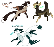 some re-redesigns omg by LucidNaturae