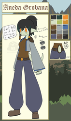 Aneda Redesign/Reference sheet by HellStorm8000