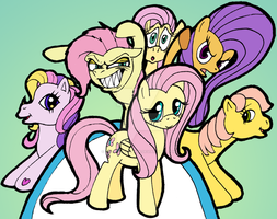 Fluttershy and... others? by Nutty-Nutzis