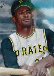Roberto Clemente Sketch Card by Ethrendil