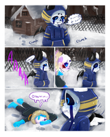 [Collab] Undermess/underfusion comic Collab page 1 by evillovebunny500