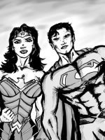 Superman and Wonder-Woman  by maxpa27