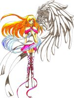 One winged angel by Nekkohime