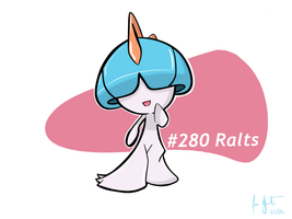 Shiny Ralts by LuisMGalindo