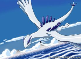 Guardian of the Ocean - Lugia by DarkFeather