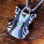 Spoon Pendant with Opal by metalsmitten