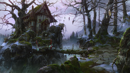 witch house (winter) by VityaR83
