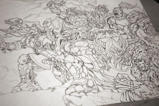 Avengers Medieval WIP by benbal