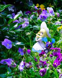 Lillie and Nebby in the Garden 2 by Chocolate-Spider
