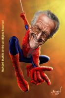 Stan Lee caricature by Marmanillustrator