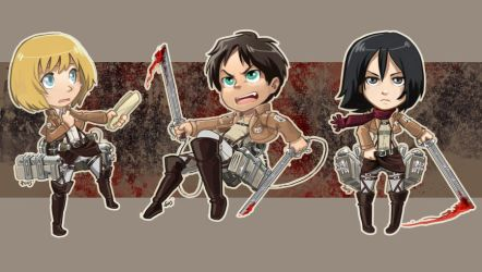Attack on Titan stickers by oneoftwo