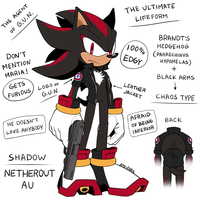 Shadow the Hedgehog [NETHEROUT AU] |Chaos Type| by Ami-Dark