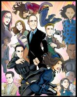 Agents of S.H.I.E.L.D. Cast by Saturn-Kitty