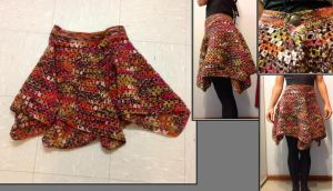 Autumn granny square skirt by sweet-archangel