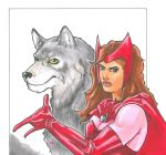 Scarlet Witch and Wolf by DKHindelang