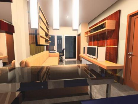 Ciumbuleuit Apartment Interior by jotter